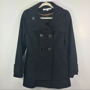 Kenneth Cole NY two button heavy pea coat